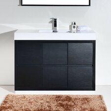 "Bliss 48"" Single Free Standing Modern Bathroom Vanity Set"