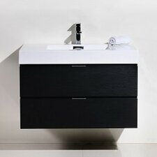 "Bliss 36"" Single Wall Mount Modern Bathroom Vanity Set"