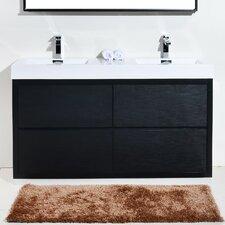 "Bliss 60"" Double Free Standing Modern Bathroom Vanity Set"
