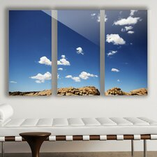 'Open Spaces' by Midnight Bantam 3 Piece Photographic Print on Plaque Set