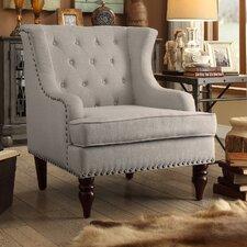 Jewel Tufted Wingback Club Chair