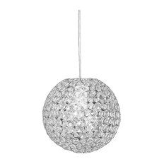 Sparkling 1 Light Globe Pendant