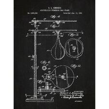 Sporting Goods 'Punching Bag' Silk Screen Print Graphic Art in Chalkboard/White Ink