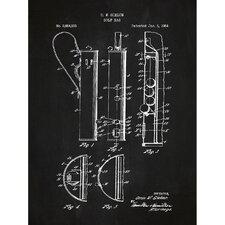 Sporting Goods 'Golf Bag' Silk Screen Print Graphic Art in Chalkboard/White Ink