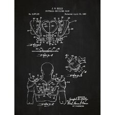 Sporting Goods 'Football Shoulder Pads' Silk Screen Print Graphic Art in Chalkboard/White Ink