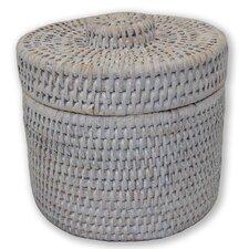 Rattan Round Single Tissue Roll Box