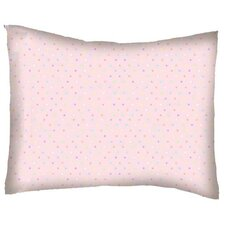 Pastel Pindots Woven Cotton Percale Pillow Cover