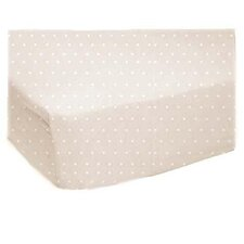 Pindot Jersey Knit Fitted Bassinet Sheet