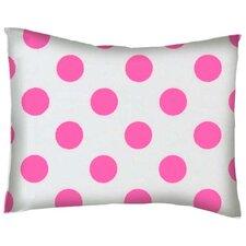 Neon Polka Dots Cotton Percale Pillow Cover