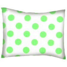 Neon Polka Dots Cotton Percale Pillow Cover