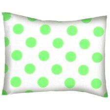 Neon Polka Dots Cotton Percale Pillowcase
