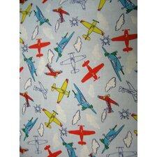 Kiddie Airplanes Toddler Fitted Crib Sheet