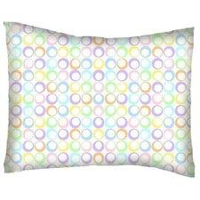 Pastel Rings Woven Cotton Percale Pillowcase