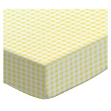 Gingham Jersey Fitted Bassinet Sheet