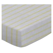 Stripes Jersey Knit Fitted Bassinet Sheet