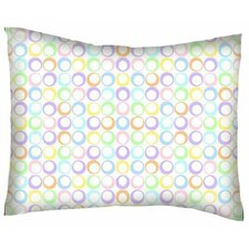 Pastel Rings Woven Cotton Percale Pillow Cover