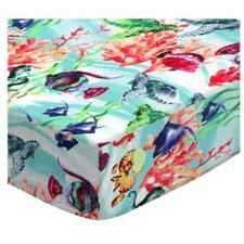 Exotic Sea Life Round Fitted Crib Sheet