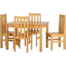 Tina Dining Table and 4 Chairs