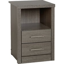 Rossi 2 Drawer Bedside Table