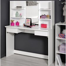 Tielme Beauty Bar Dressing Table with Mirror