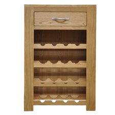 16 Bottle Tabletop Wine Cabinet