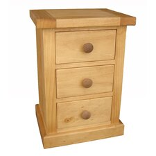Cotswold 3 Drawer Bedside Table