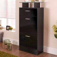 Lola Slimline High Gloss Shoe Cabinet
