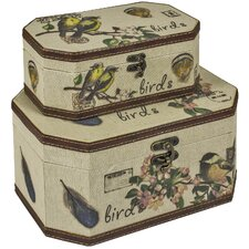 2 Piece Bird Storage Box Set