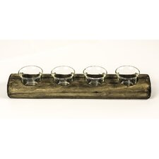Rafferty Wood / Glass Tealight