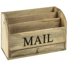 Wooden Mail Rack