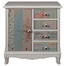 Cianna 1 Door 4 Drawer Storage Cabinet