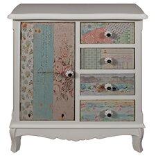 Cianna 1 Door 4 Drawer Storage Cabinet