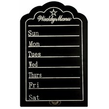 Weekly Menu Chalkboard