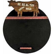 Drink Milk Circular Chalkboard