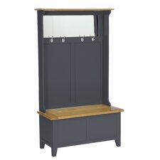 Oakham Expressions Hall Tidy Storage Bench with Coat Rack and Mirror