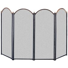 4 Panel Metal Fireplace Screen