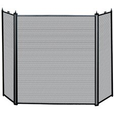 Kirby 3 Panel Metal Fireplace Screen