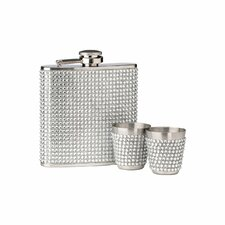 Diamond Hip Flask Set