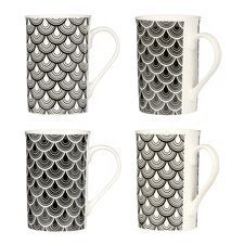Deco Luxe 4 Piece Mug Set