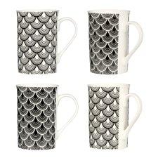 Deco Luxe 4 Piece Mug Set
