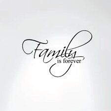 Family Is Forever Vinyl Wall Decal Art Saying Home Decor Sticker