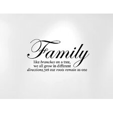 """Family Like Branches on a Tree""...  Quote Wall Decal"