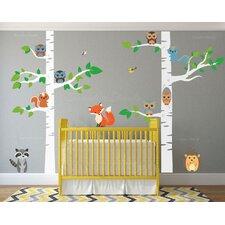 12 Piece Birch Tree Nursery Wall Decal Set