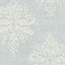 "VIntage Damask 32.7' x 20.5"" Medallion Damask Wallpaper"