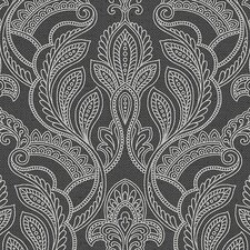 "VIntage Damask 32.7' x 20.5"" Paisley with Linen Wallpaper"
