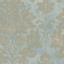 "Silk Impressions 32.7' x 20.5"" In Reg Damask Wallpaper"