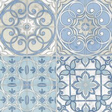 "Kitchen Elements 32.7' x 20.5"" Portugese Tiles Wallpaper"