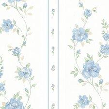 "Silk Impressions 32.7' x 20.5"" In Reg Rose Stripe Wallpaper"