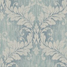 "VIntage Damask 32.7' x 20.5"" Woven Damask Wallpaper"