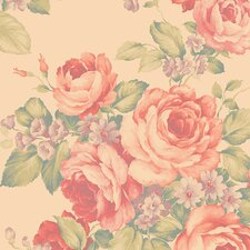 """Abby Rose III 32.7' x 20.5"""" Grand Floral Wallpaper"""